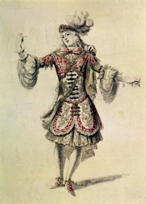 Costume design for a male dancer, c.1681