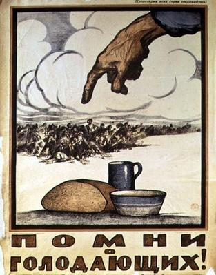 """Remember the Hungry!"", poster, 1921"