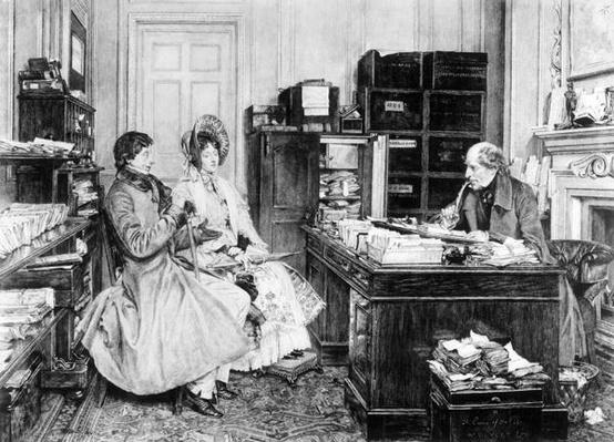 In the Solicitor's Office, engraved by James Dobie