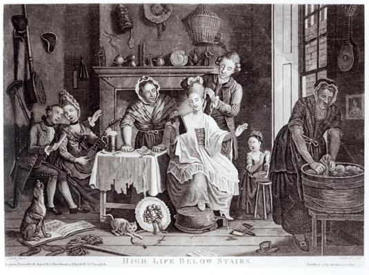 High Life Below Stairs, engraved by Caldwell, pub. in 1772