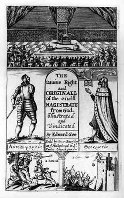 Title Page to 'The Divine Right and Original of the Civil Magistrate from God', engraved by Edward Gee, 1658