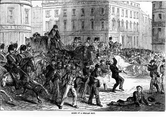 Scene at Belfast Riot, 1864