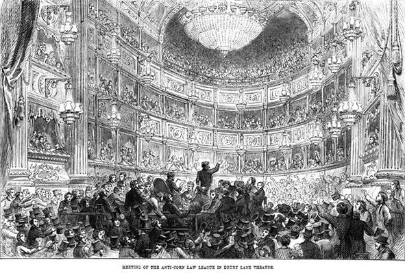 Meeting of the Anti-Corn Law League in Drury Lane Theatre