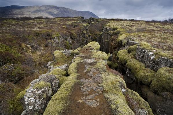 Fault in the Landscape at Thingvellir National Park Near Reykjavik, Iceland | Earth's Surface