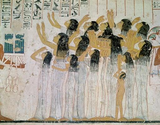Weeping Women in a Funeral Procession, from the Tomb-Chapel of Ramose, Vizier and Governor of Thebes, New Kingdom, c.1360 BC
