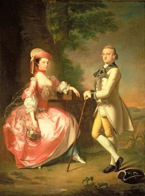 Sir John Pole, 5th Baronet, and his Wife, Elizabeth, 1755