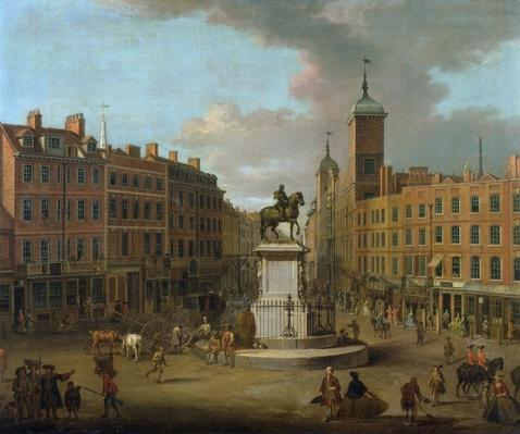 A View of Charing Cross and Northumberland House, 1746