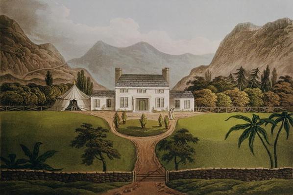 Bonaparte's Mal-Maison at St. Helena, 1821