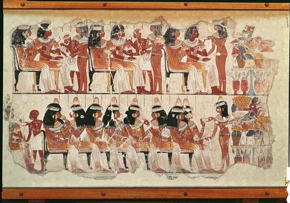 Banquet scene, from Thebes, c.1400 BC