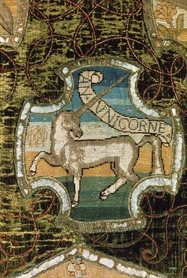 Unicorn, from the Oxburgh Hanging, made by Mary Queen of Scots