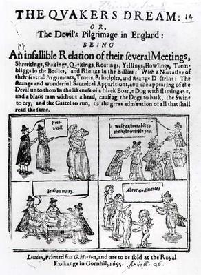 The Quakers Dream or The Devil's Pilgrimage in England, pub. in 1655