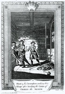 Blood and his Accomplices Making their Escape after Stealing the Crown of Charles II, 1793