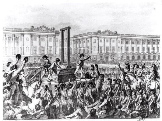 Execution in Revolution Square during the French Revolution, 18th century