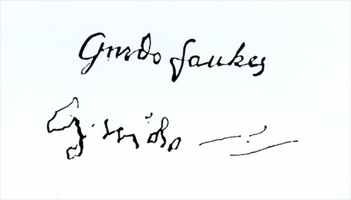 Signature of Guy Fawkes