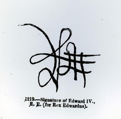 Signature of Edward IV