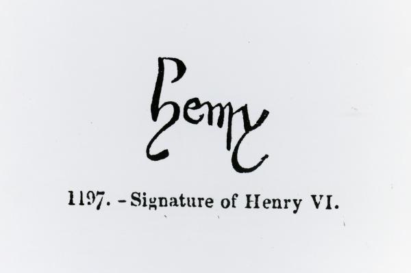 Signature of Henry VI