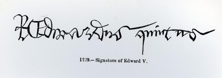 Signature of King Edward V