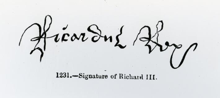 Signature of Richard III