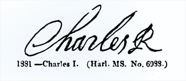Signature of King Charles I