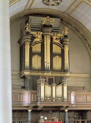 Wooden organ case, c.1685-6
