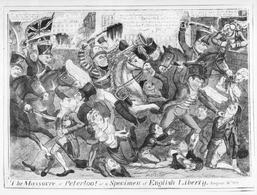 The Massacre of Peterloo! or a Specimen of English Liberty, August 16th 1819