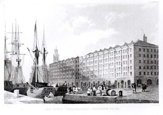 The Goree Warehouse, George's Dock, Liverpool, engraved by H. Wallis, c.1830