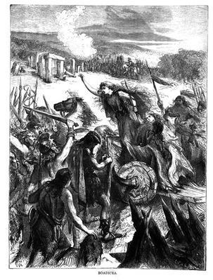 Boadicea Inciting the Iceni against the Romans