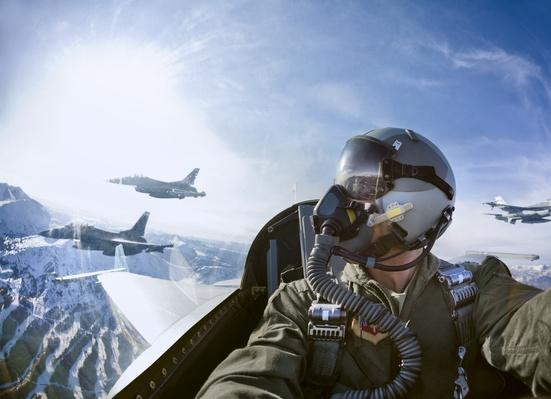 Cockpit view of fighter pilot with F-16s | The Evolution of Military Aviation