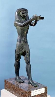 Statue of the God Horus Making a Drink Offering, Third Intermediate Perios, c.750 BC