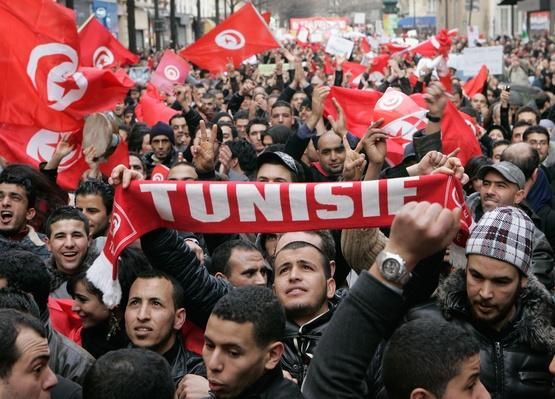 Solidarity with Tunisia and Algeria Demonstration in Paris | Arab Spring