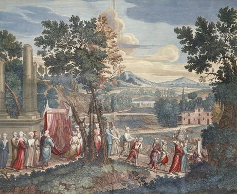 Turkish marriage procession, 1712-13