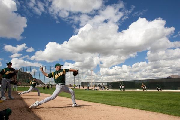 Athletics' Rich Harden during Spring Training | Ken Burns: Baseball - The Tenth Inning
