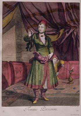 """Portrait of a lady from the """"Book of Designs"""", 1712-13"""
