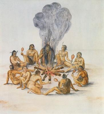Indians round a Fire