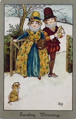 Sunday Morning, Victorian card