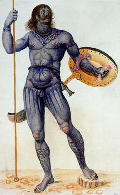 Pictish Man Holding a Shield