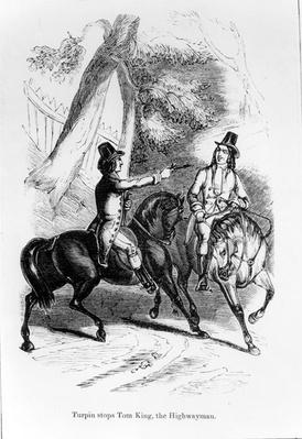 Turpin Stops Tom King, the Highwayman