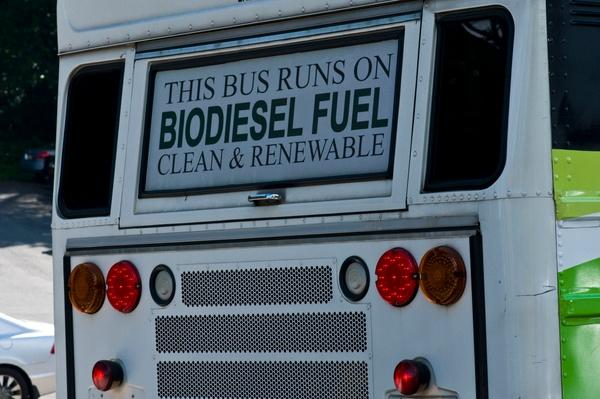 Clean Energy Sign on the Back of a Bus | Earth's Resources