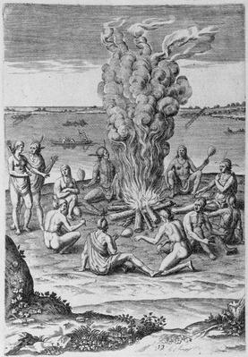 Indians around a Fire
