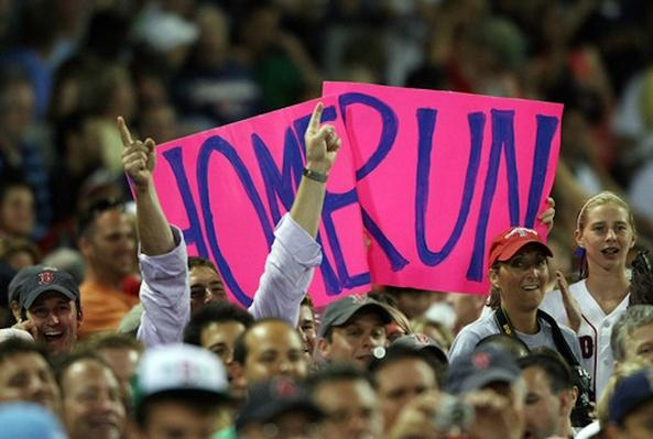 Red Sox Fans with Home Run Sign | Ken Burns: Baseball - The Tenth Inning