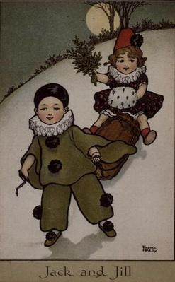 Jack and Jill, Victorian card