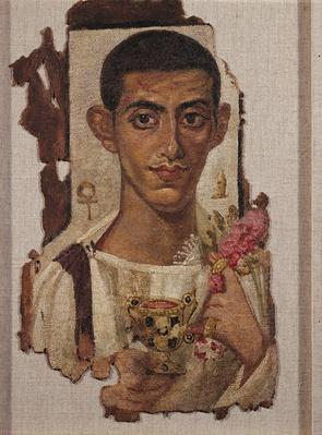 Fayum portrait of Ammonius, from Antinoe