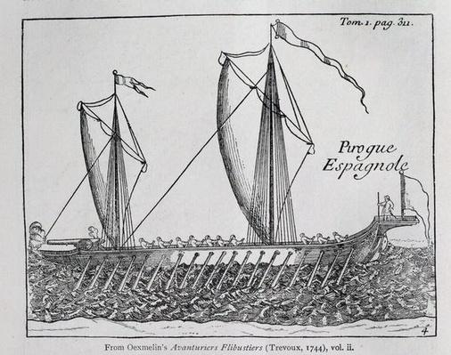 'Spanish Ship', from Oexmelin's Buccaneer Adventurers, vol ii, Trevoux, 1744