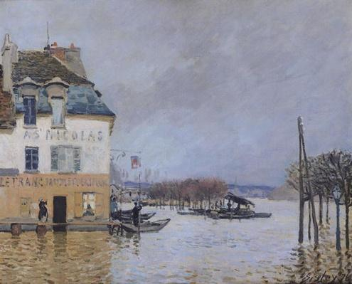 The Flood at Port-Marly, 1876