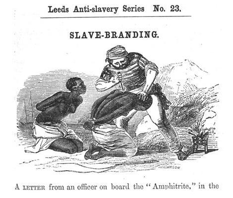 Slave-Branding, from 'Leeds Anti-Slavery Series', 1853