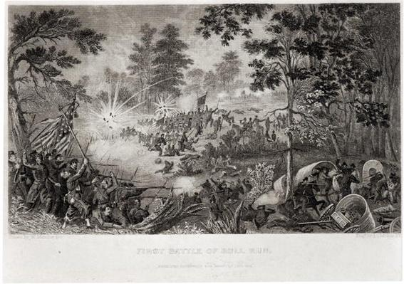 The First Battle of Bull Run, 21st July 1861, engraved by J.C. McRae
