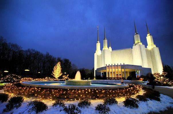 Temple at Christmas | World Religions: Mormonism