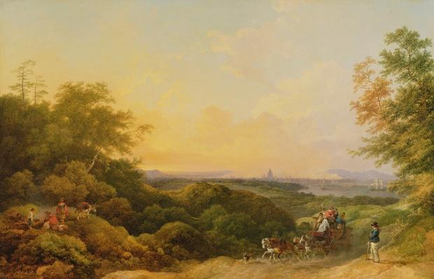The Evening Coach, London from Greenwich, 1805