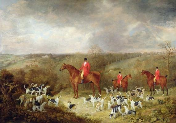Lord Glamis and his Staghounds, 1823