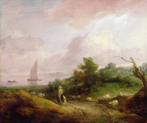 Coastal Landscape with a Shepherd and his Flock, c.1783-4